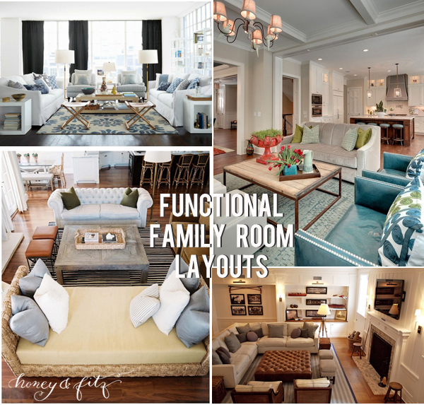 Honeyandfitz Functional Family Room Layouts