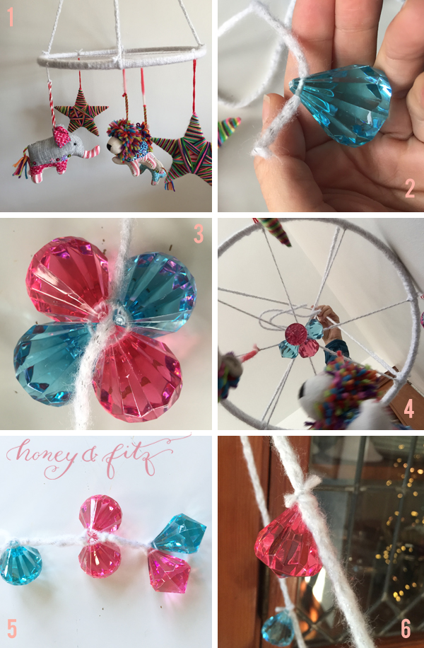 honey-and-fitz-diy-baby-mobile-using-christmas-ornaments-adding-gems